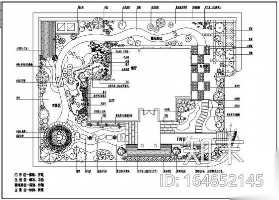 珠海某别墅花园景观设计施工图下载【ID:164852145】
