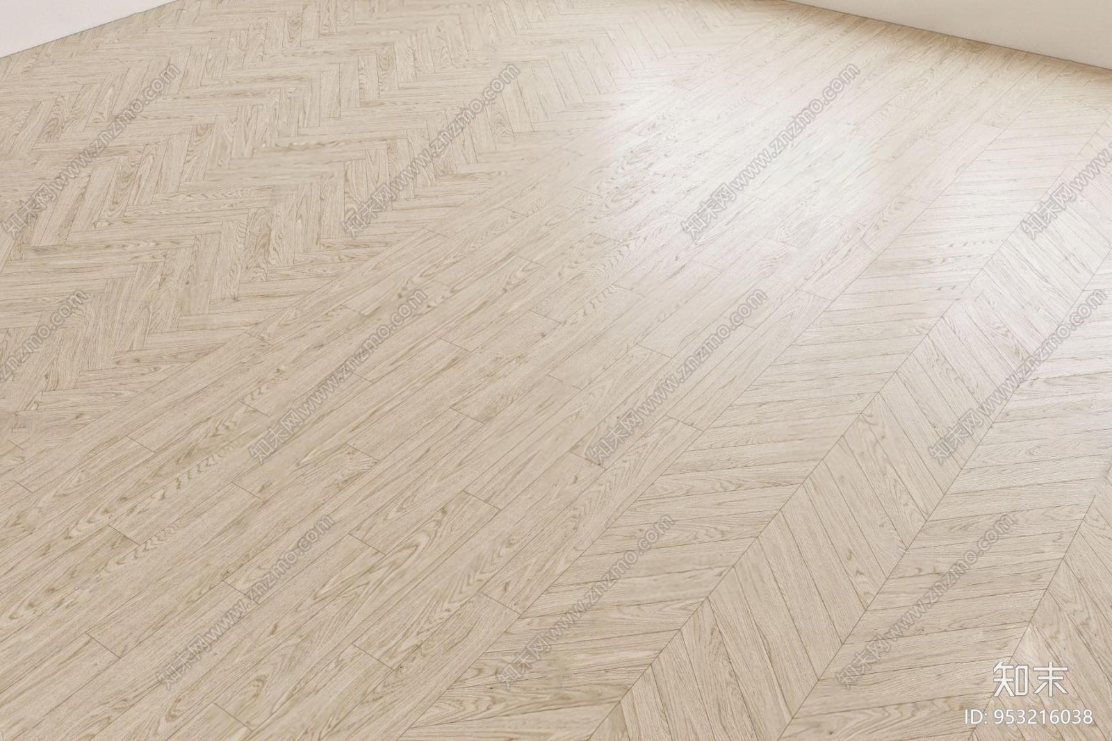 现代实木地板3d模型