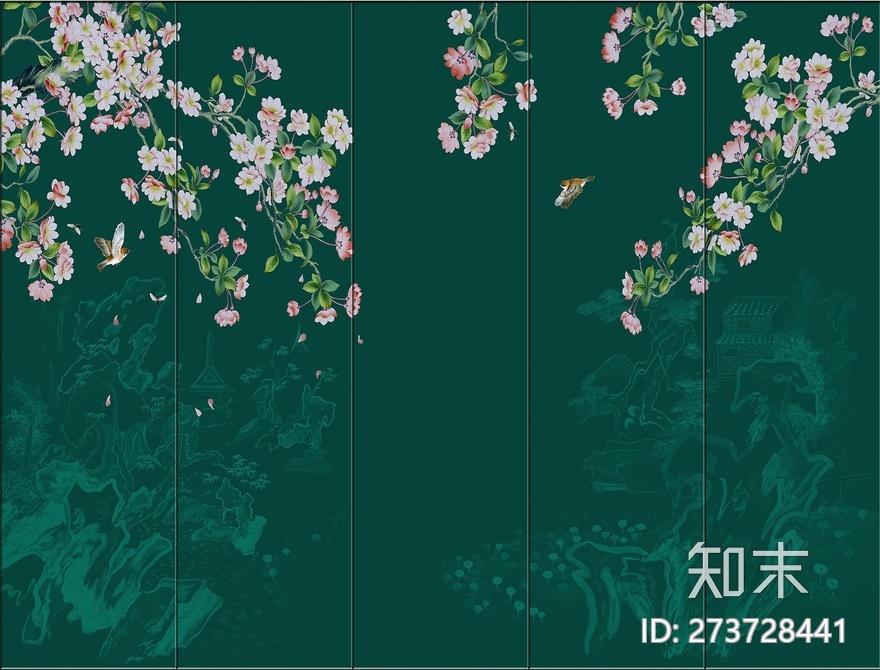 壁画花鸟贴图下载【ID:273728441】