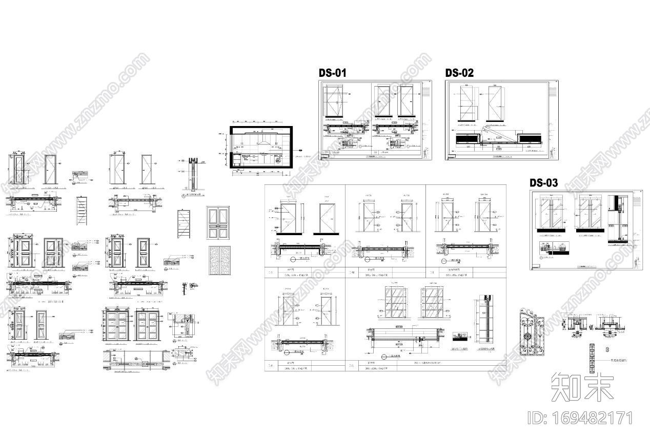 家装住宅CAD模型库精装版|CAD施工图施工图下载【ID:169482171】