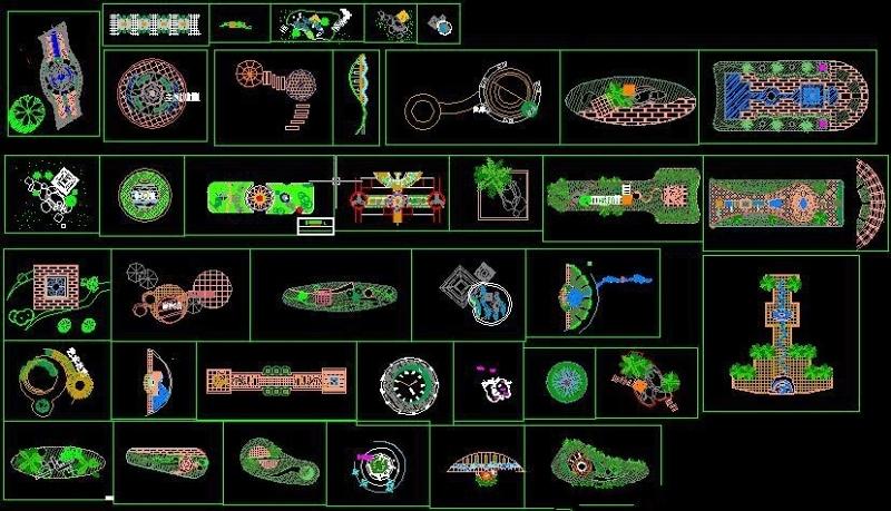 园林景观小景设计CAD详图施工图下载【ID:149599102】