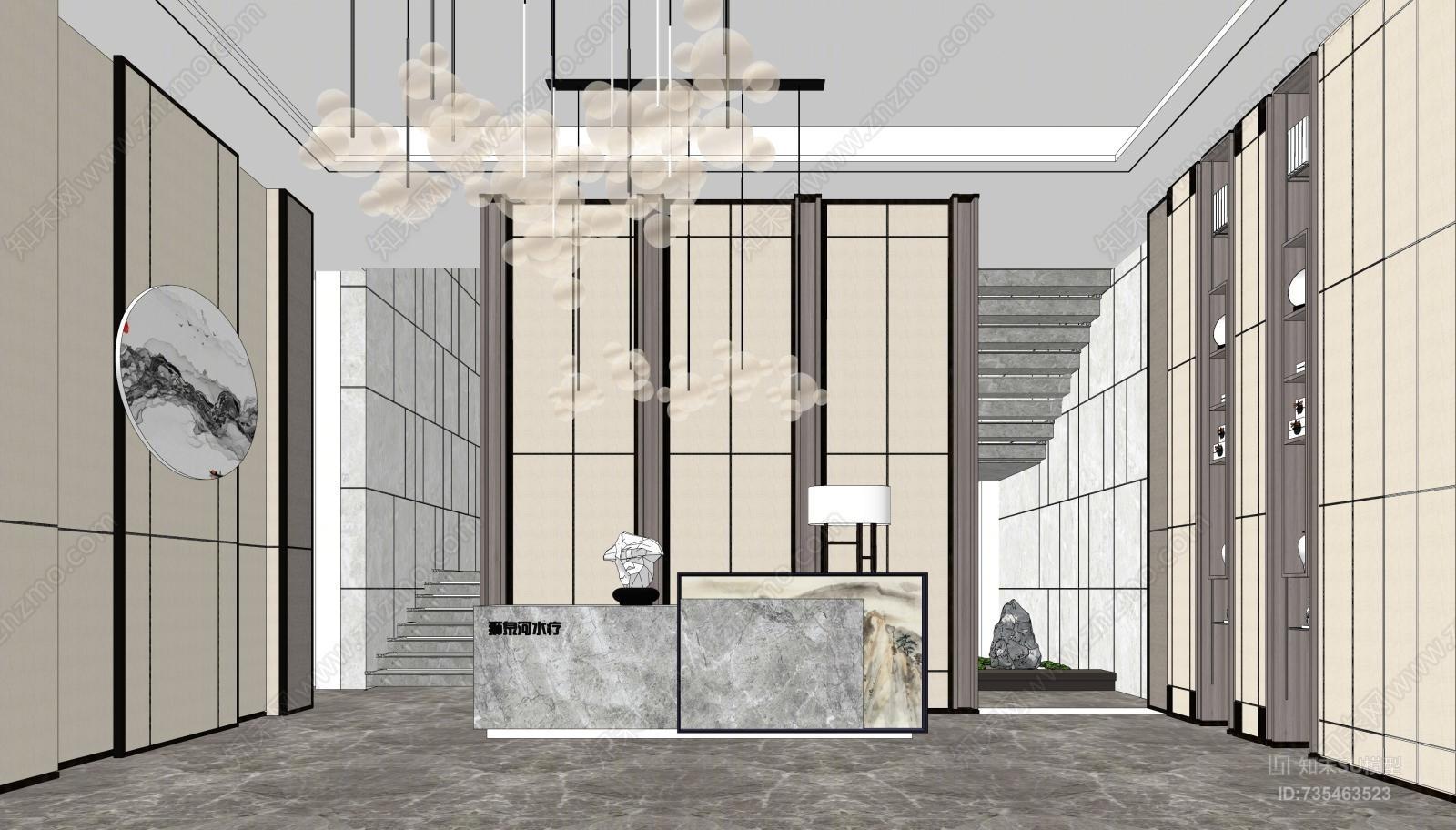 现代售楼处门厅空间