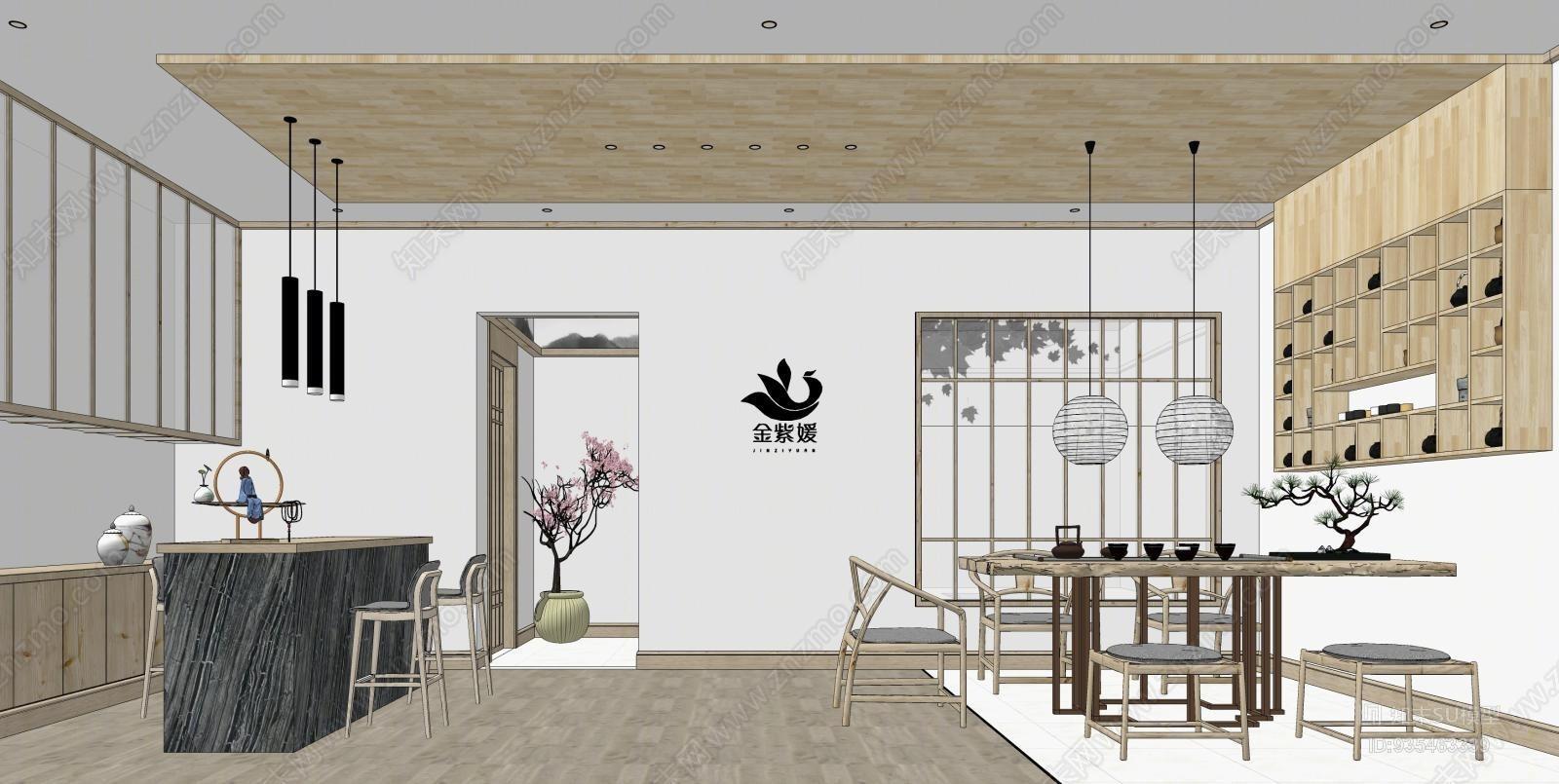 新中式茶室空间