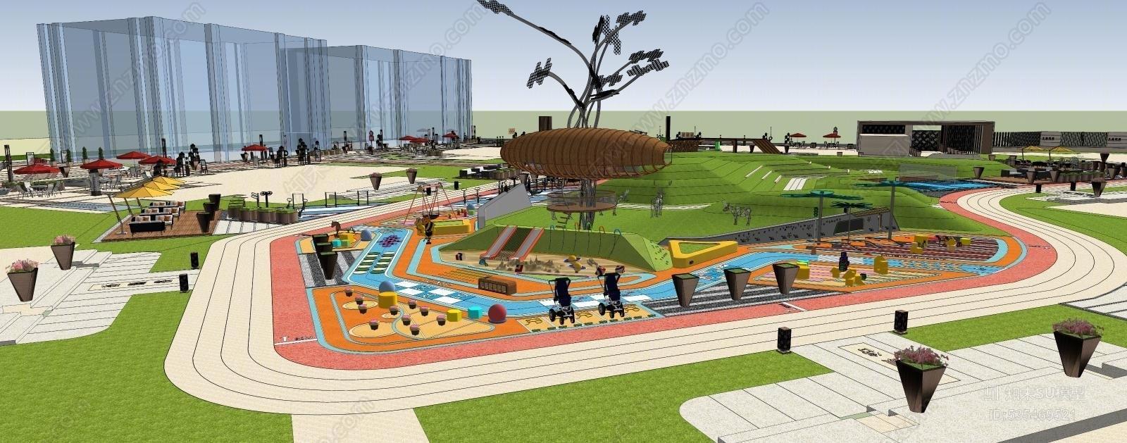 商业广场景观