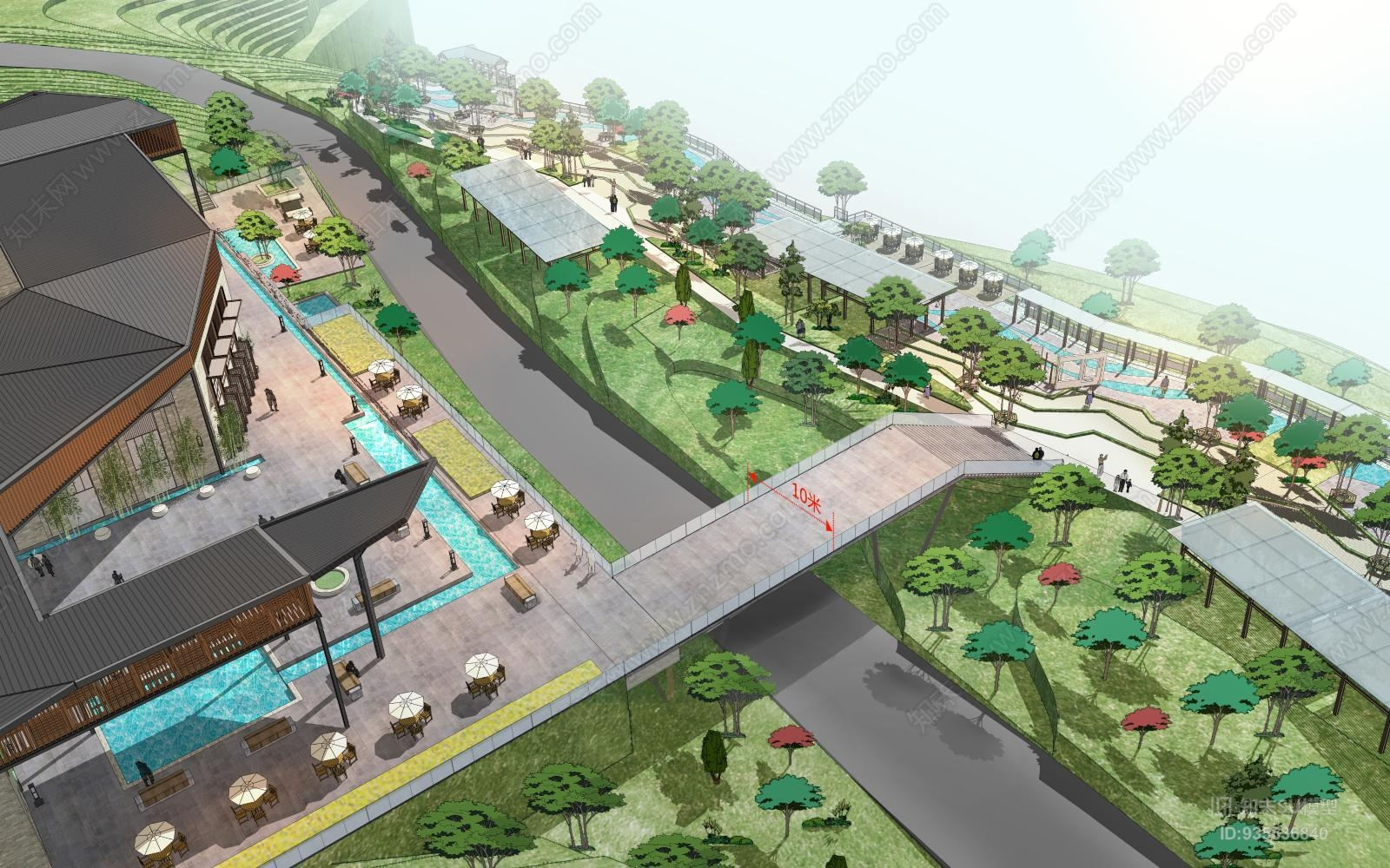 酒店景观建筑方案
