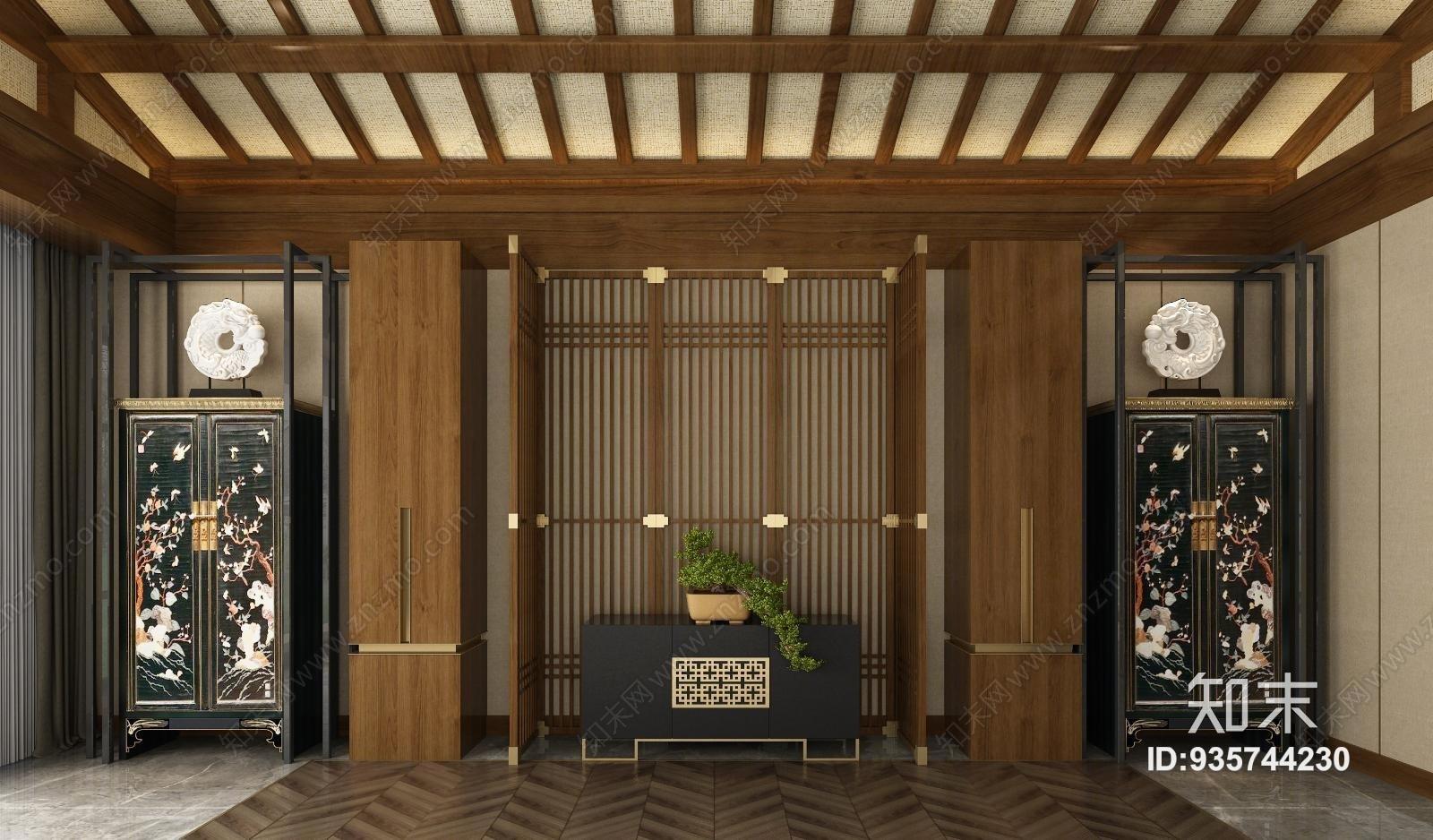 中式衣柜装饰柜