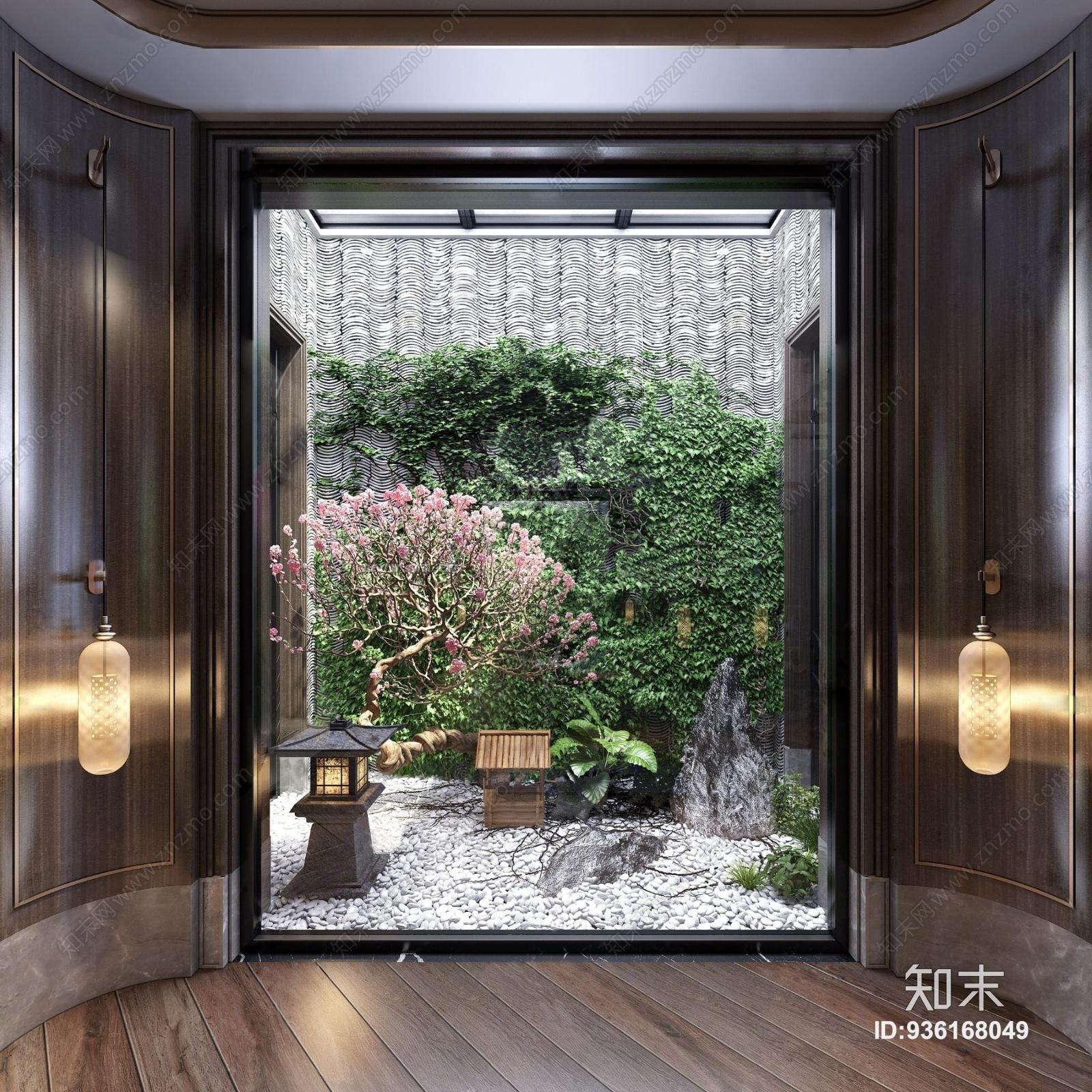 新中式天井花园景观
