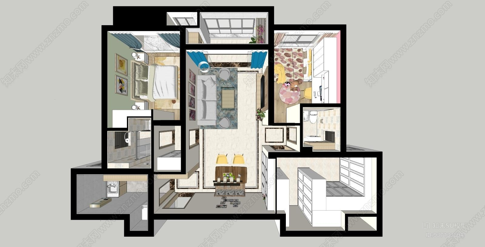 简约风格三室两厅家居