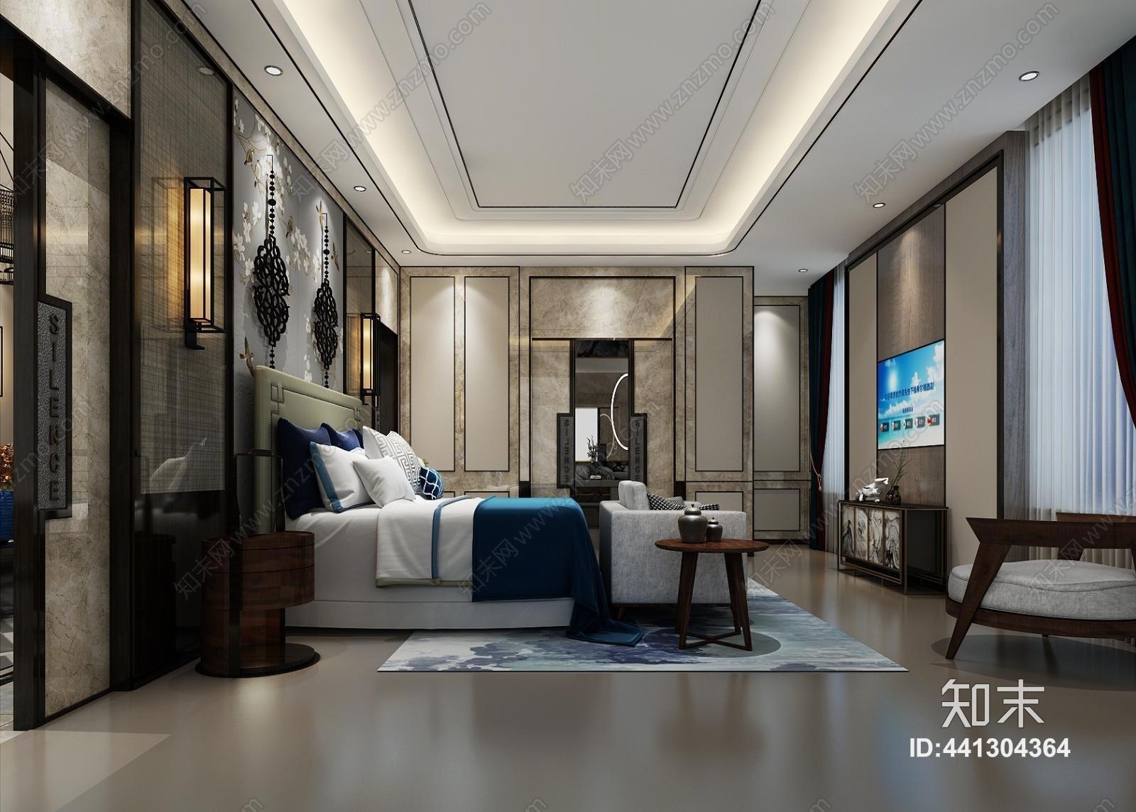 新中式卧室空间