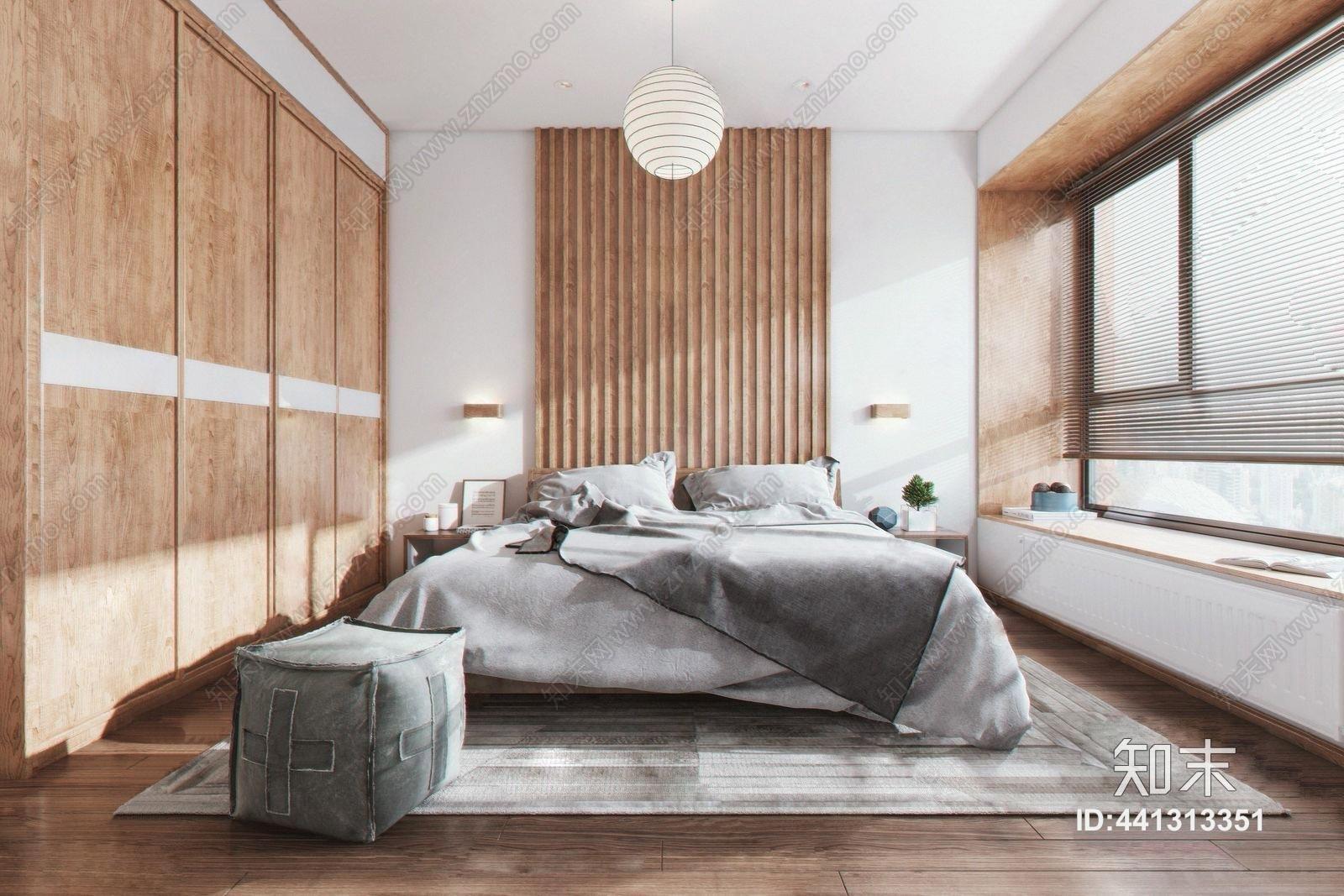 日式主卧室 次卧室 双人床