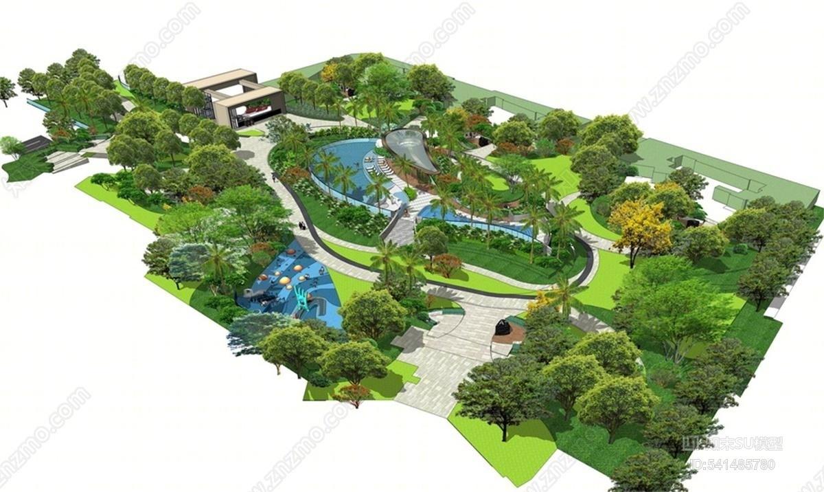 热带公园景观