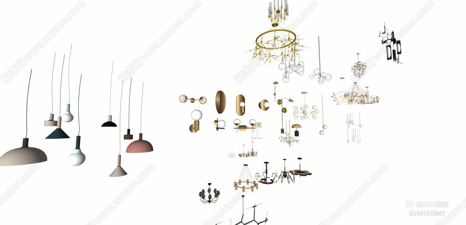 灯具 吊灯 壁灯