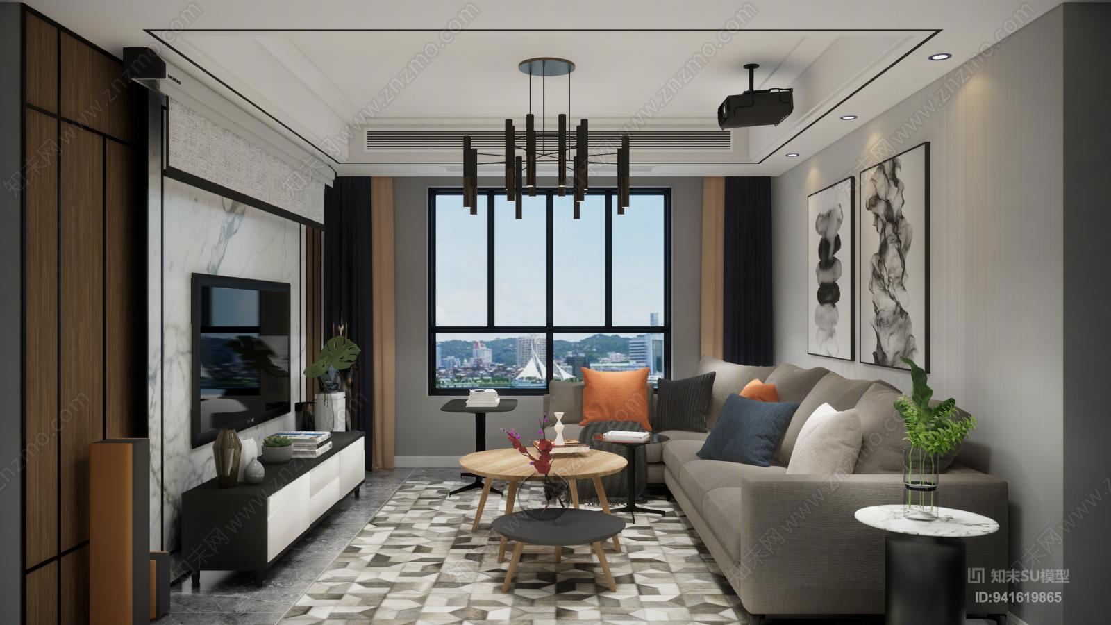 客厅空间设计效果