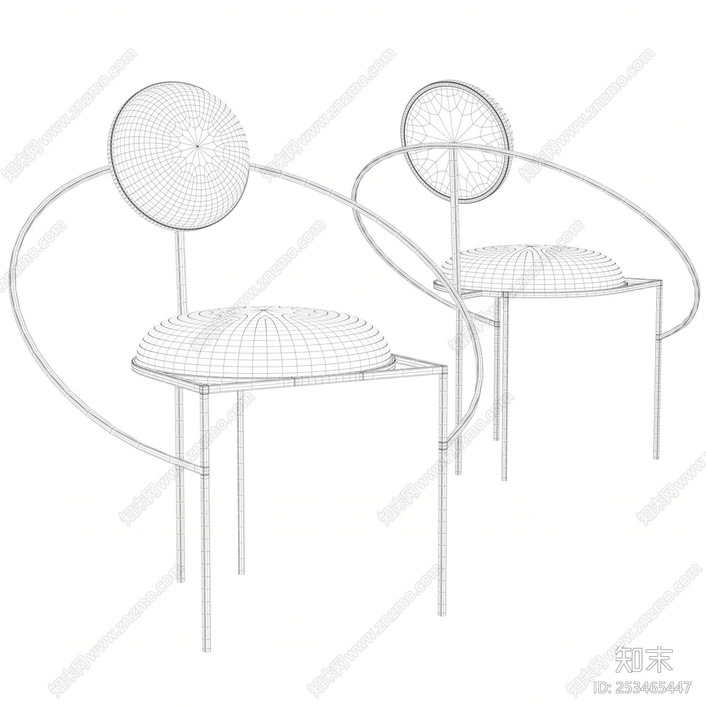 现代金属座椅3D模型下载【ID:253465447】