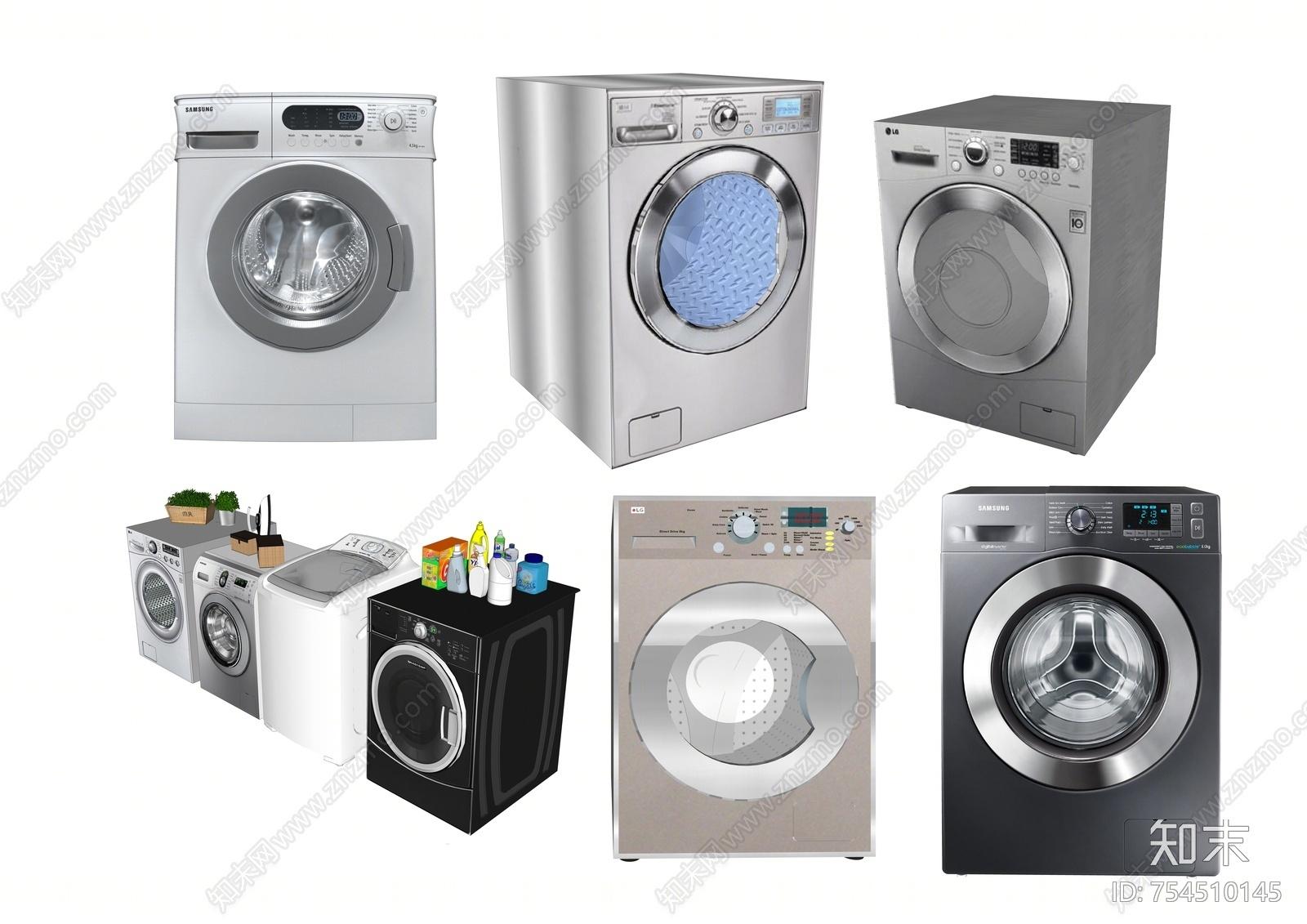 现代风格洗衣机SU模型下载【ID:754510145】