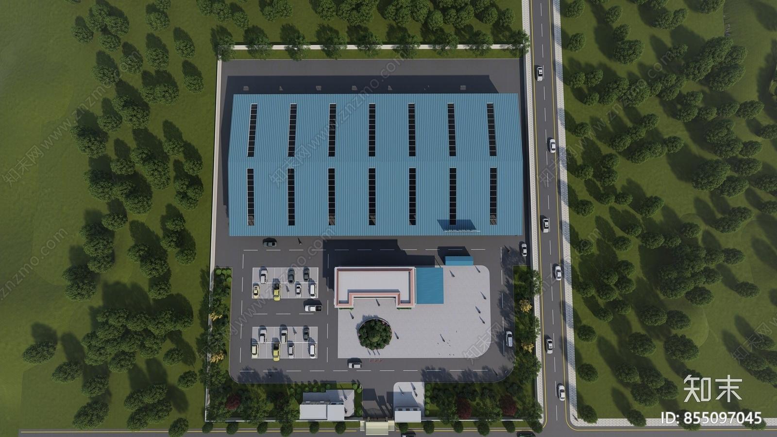 工业风格标准厂房SU模型下载【ID:855097045】
