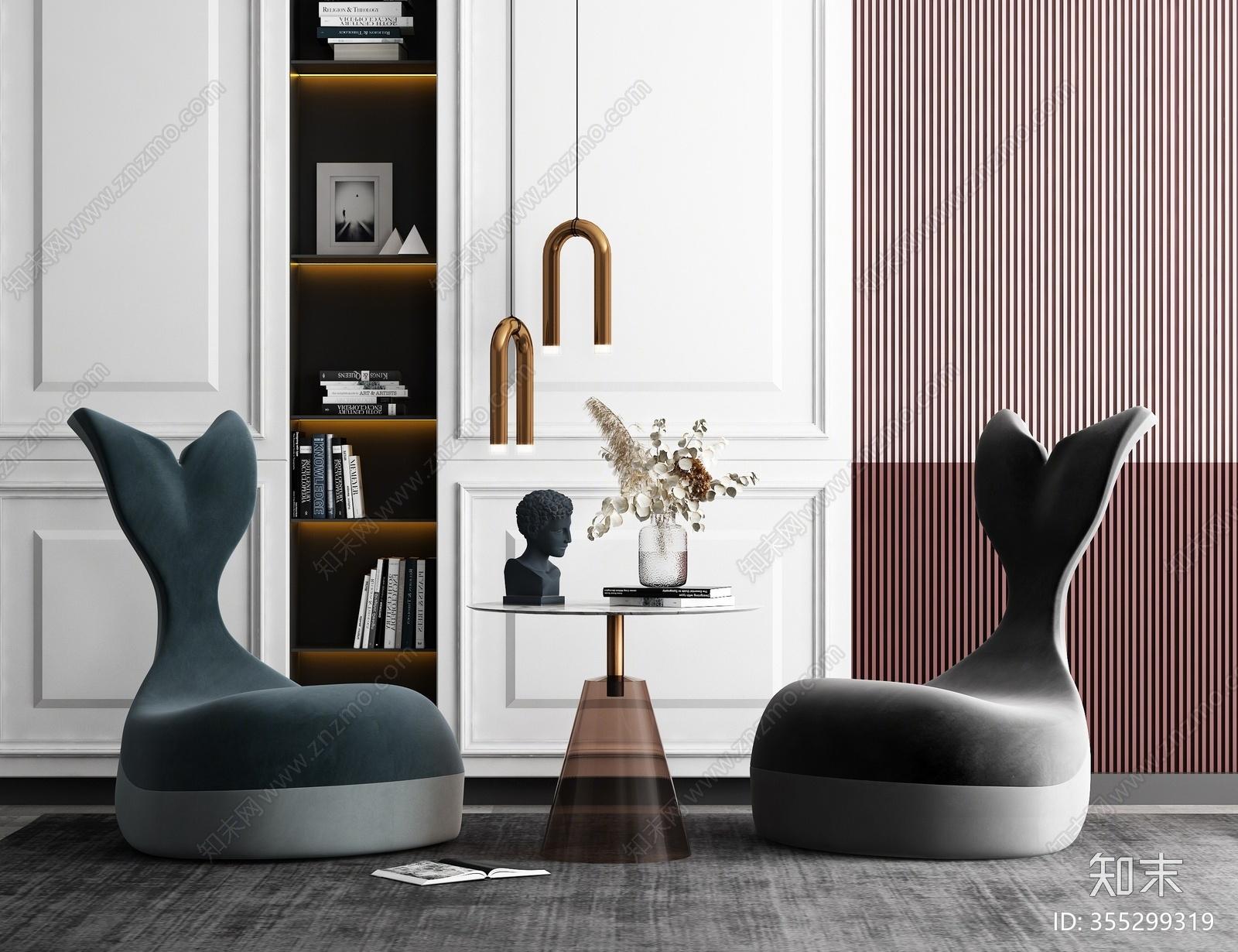 现代休闲沙发3D模型下载【ID:355299319】