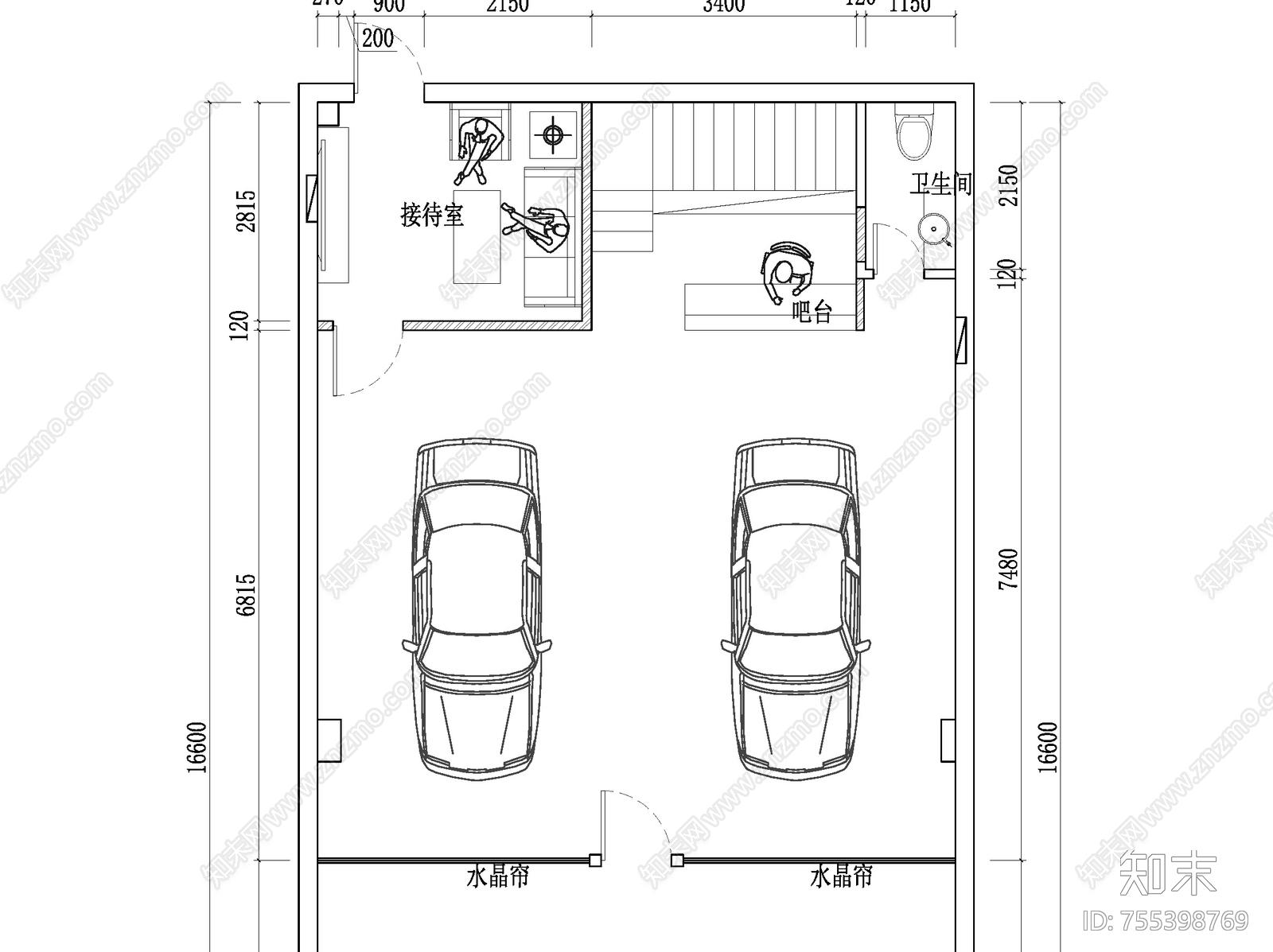 汽车4S店平面布置图施工图下载【ID:755398769】