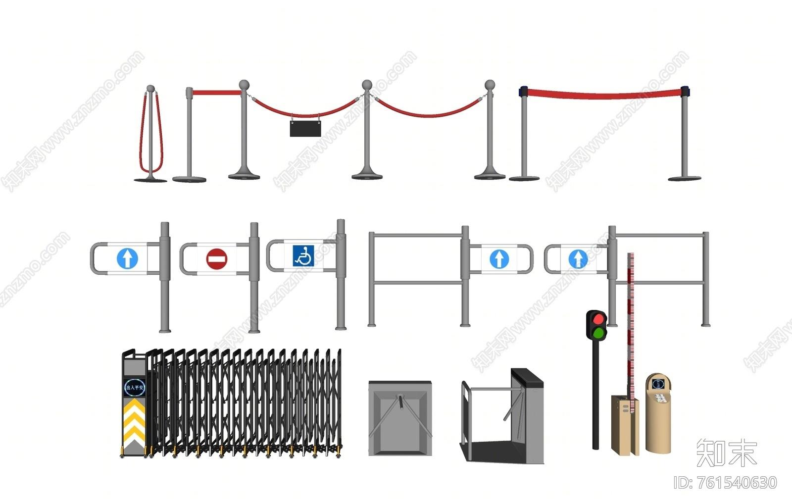 电动门模型_现代电动门SU模型下载【ID:761540630】_知末su模型网