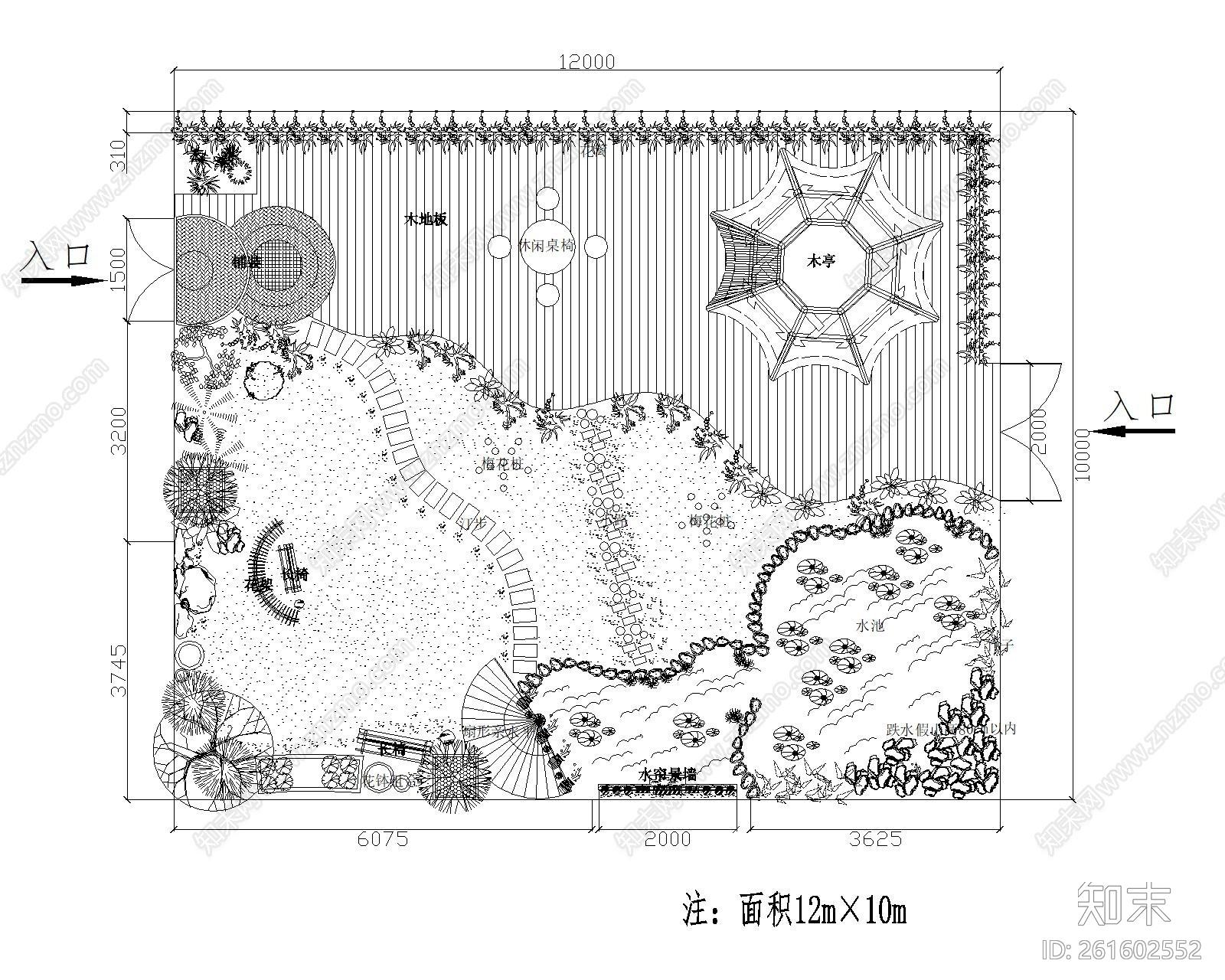 别墅庭院景观施工图下载【ID:261602552】