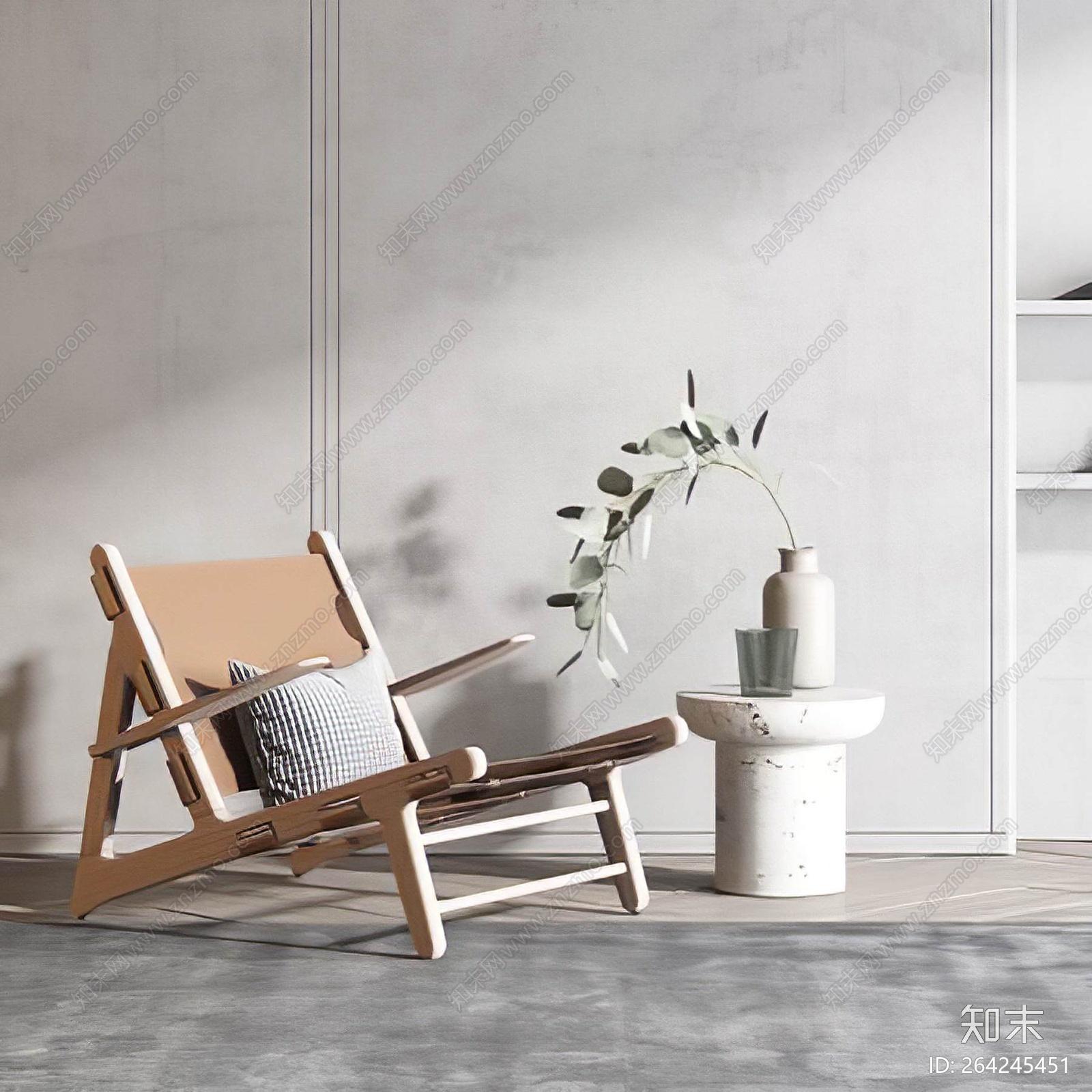 现代休闲椅3D模型下载【ID:264245451】