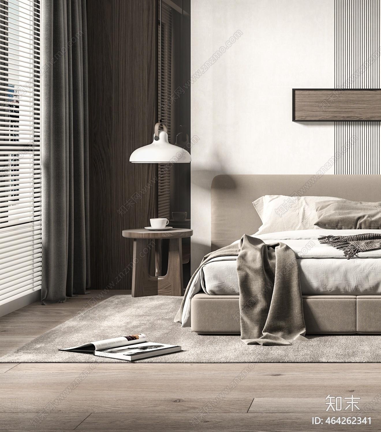 现代卧室3D模型下载【ID:464262341】