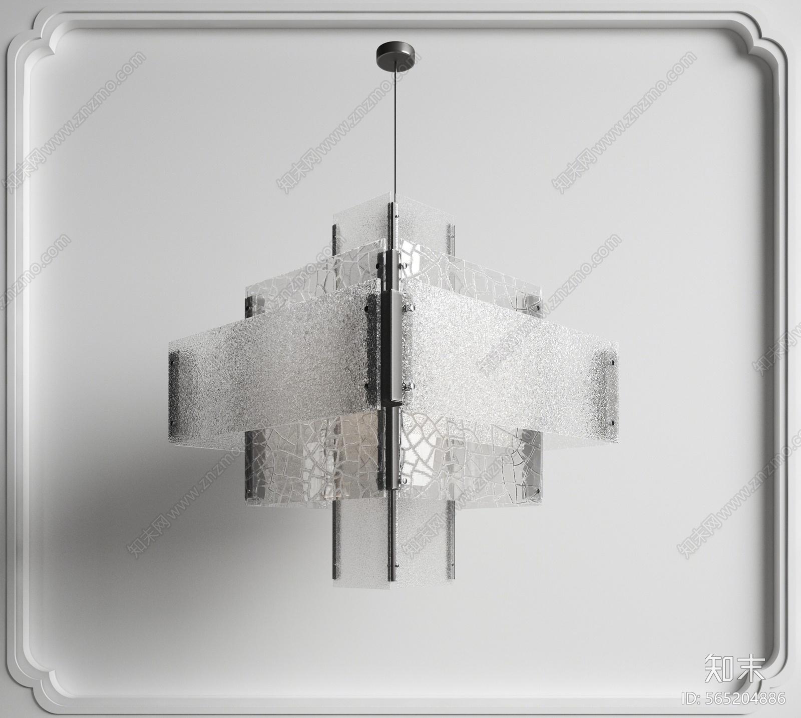 新中式吊灯3D模型下载【ID:565204886】