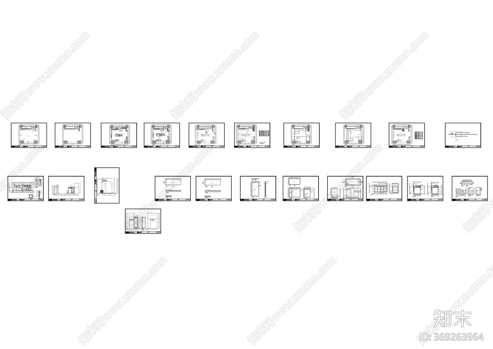 北欧风服装施工图下载【ID:369263964】