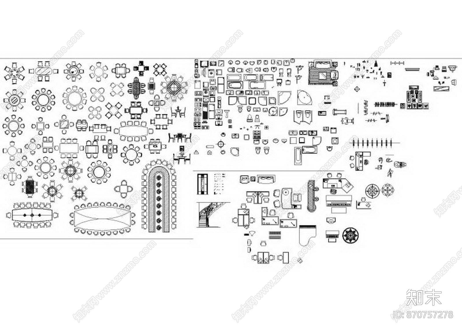 CAD完美图库施工图下载【ID:870757278】