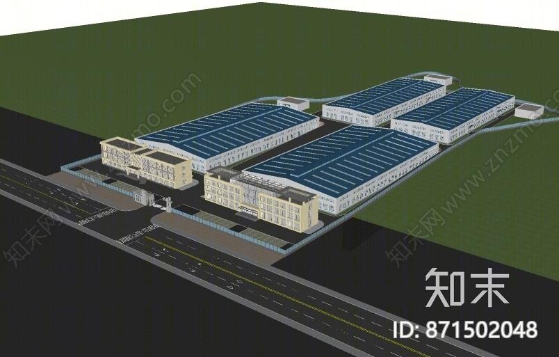 工业风工厂SU模型下载【ID:871502048】