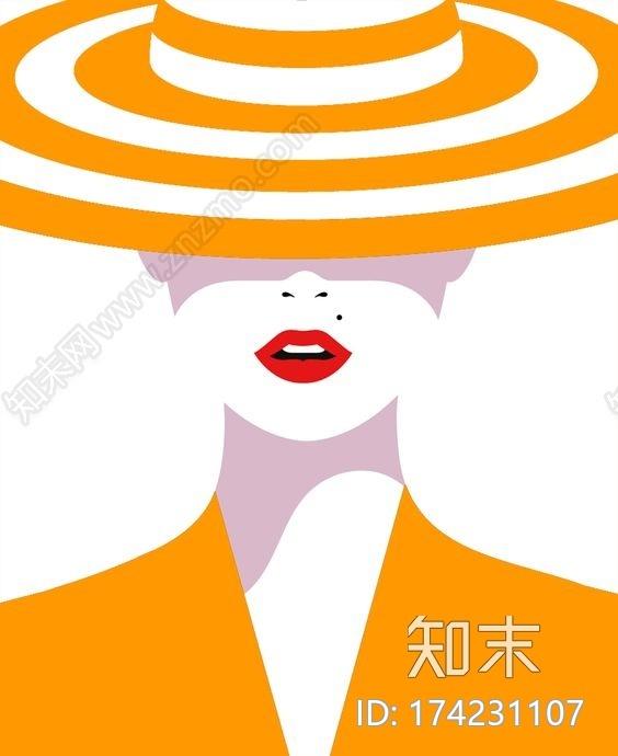 人物装饰画贴图下载【ID:174231107】