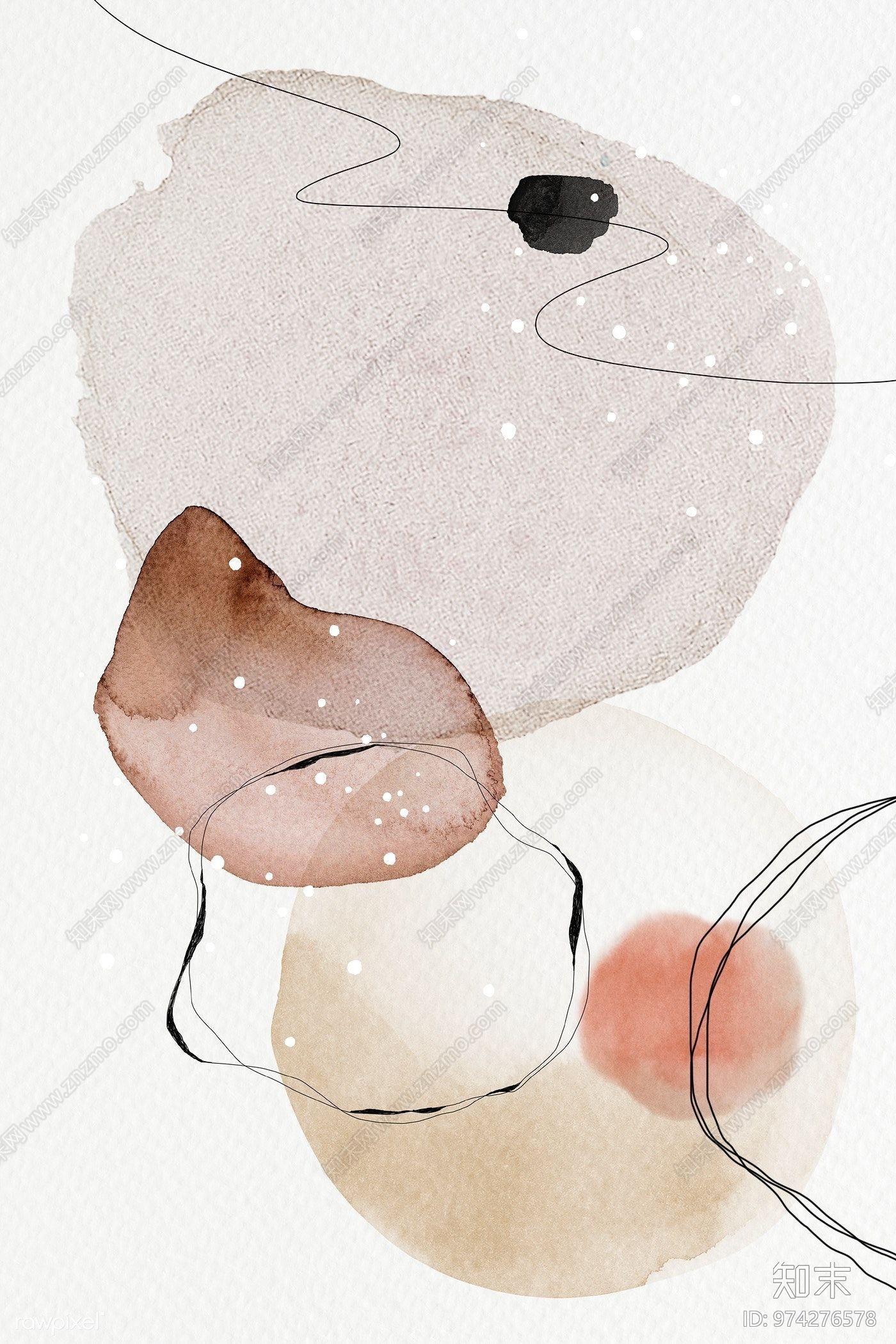 现代抽象壁画贴图下载【ID:974276578】