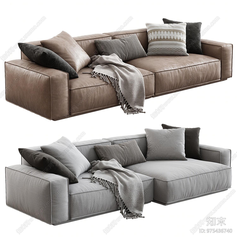 Arflex现代双人沙发3D模型下载【ID:975436740】