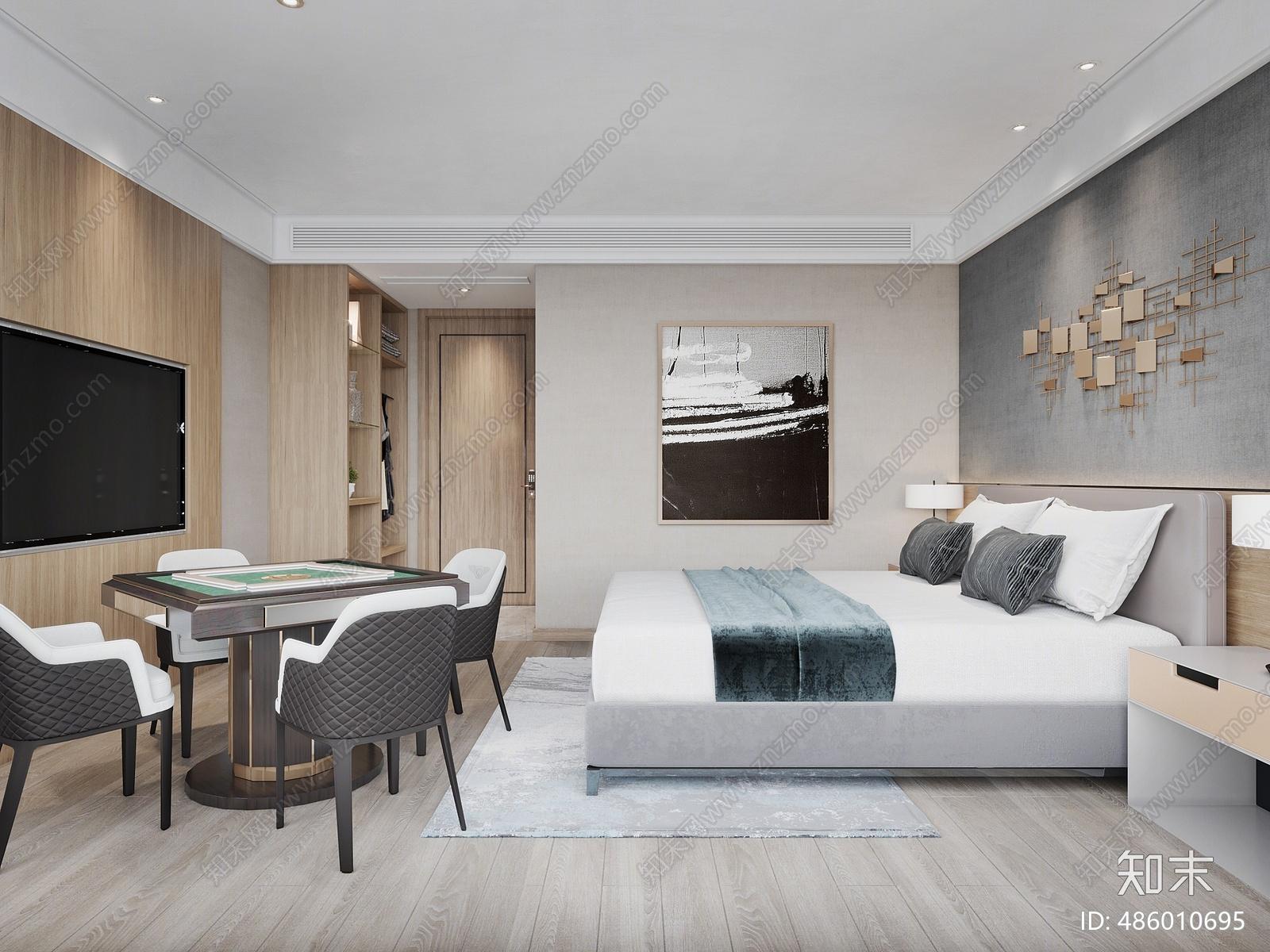 现代酒店3D模型下载【ID:486010695】