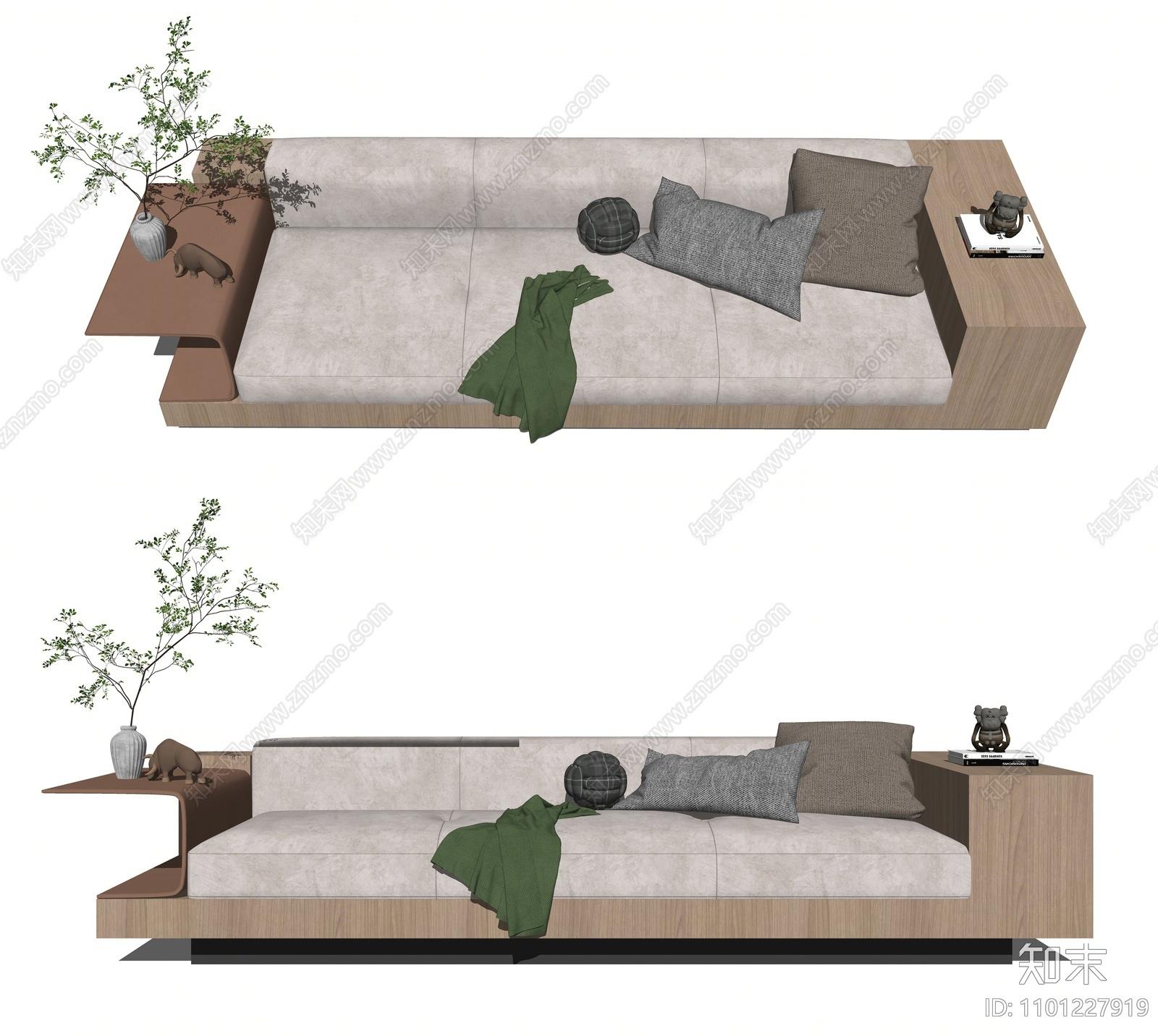 现代多人沙发SU模型下载【ID:1101227919】