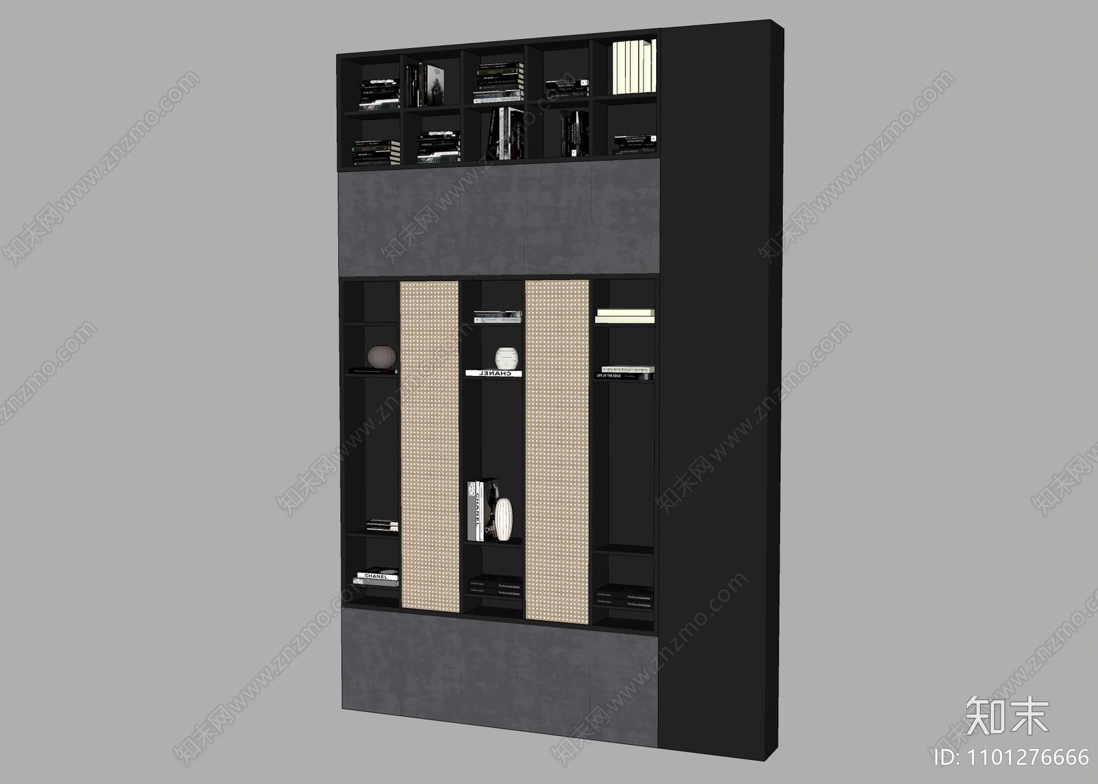 现代壁柜SU模型下载【ID:1101276666】
