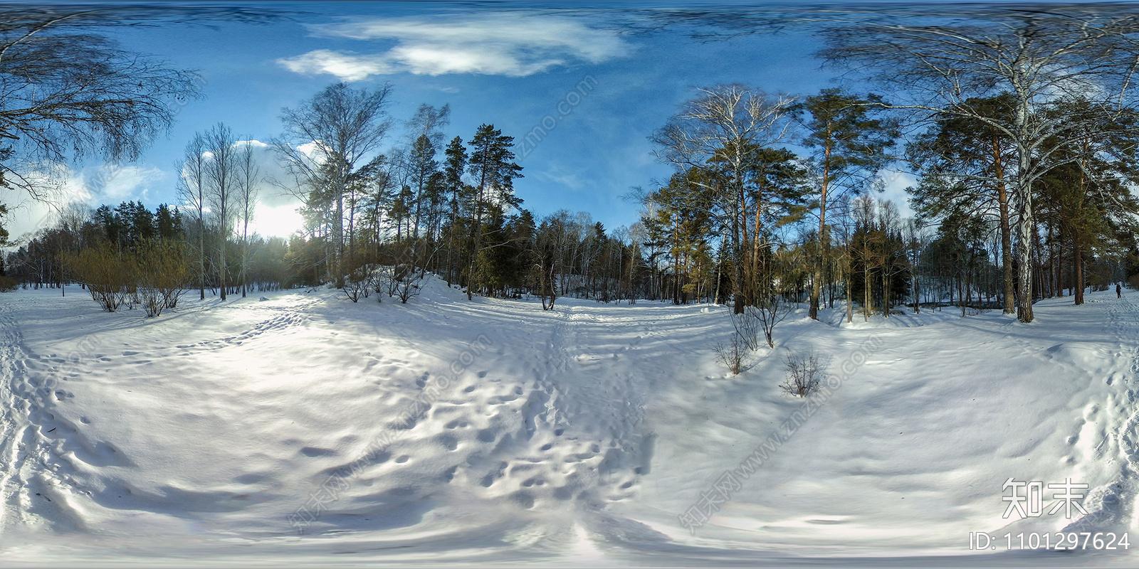 冬季雪景HDR贴图贴图下载【ID:1101297624】