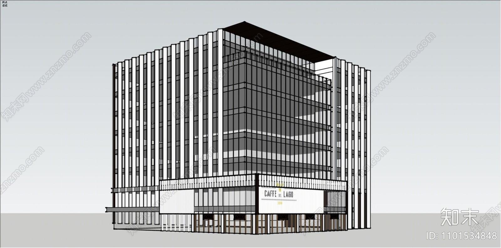 现代办公楼SU模型下载【ID:1101534848】