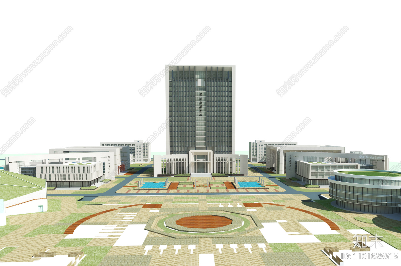 现代办公大楼SU模型下载【ID:1101625615】