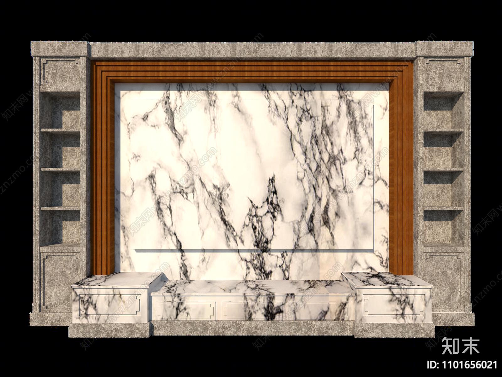 现代电视背景墙SU模型下载【ID:1101656021】