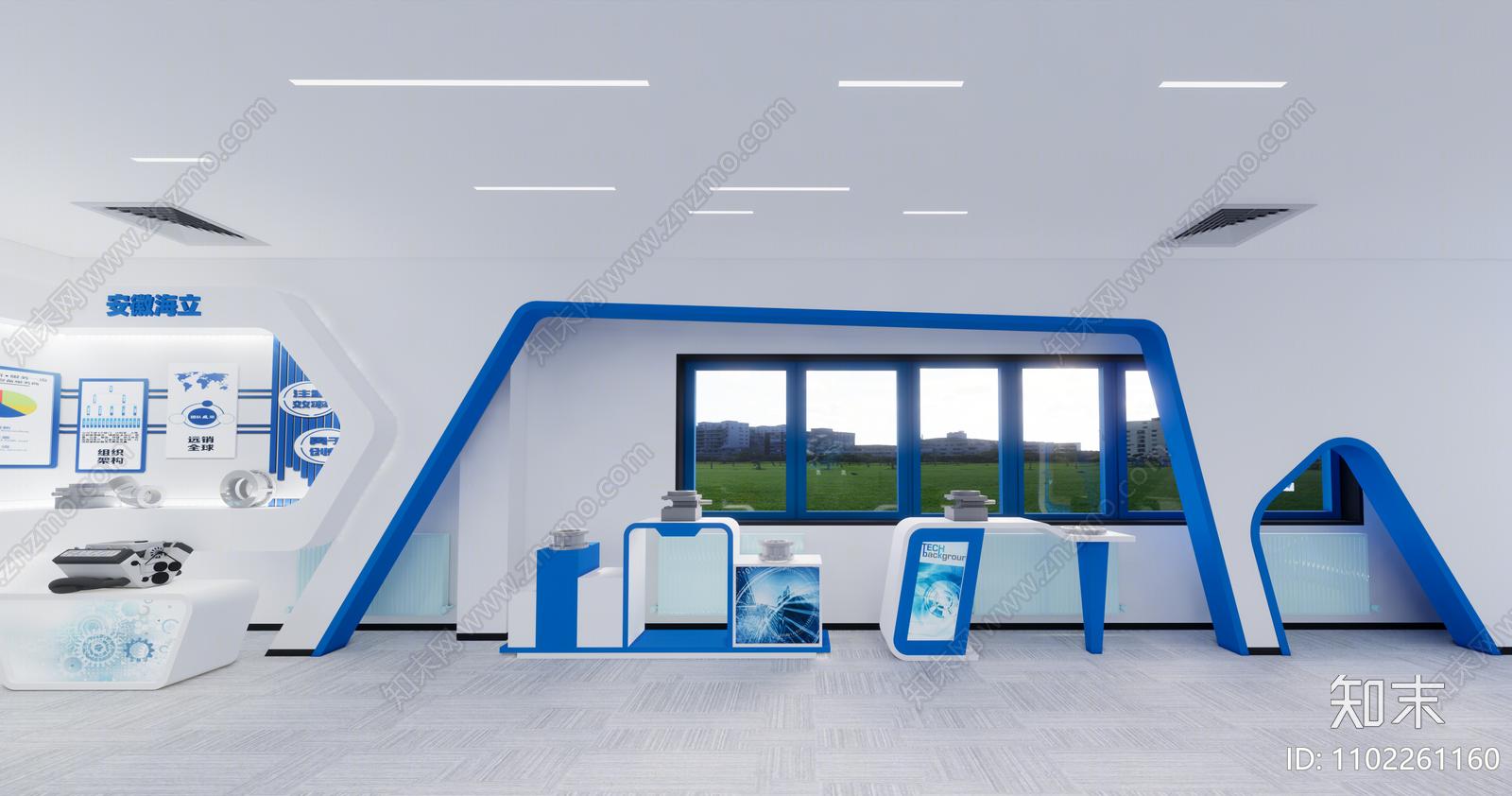 现代科技展厅SU模型下载【ID:1102261160】