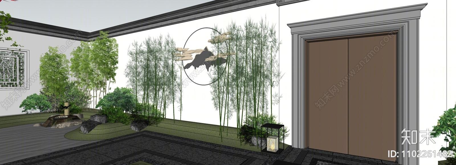 日式庭院花园SU模型下载【ID:1102261482】