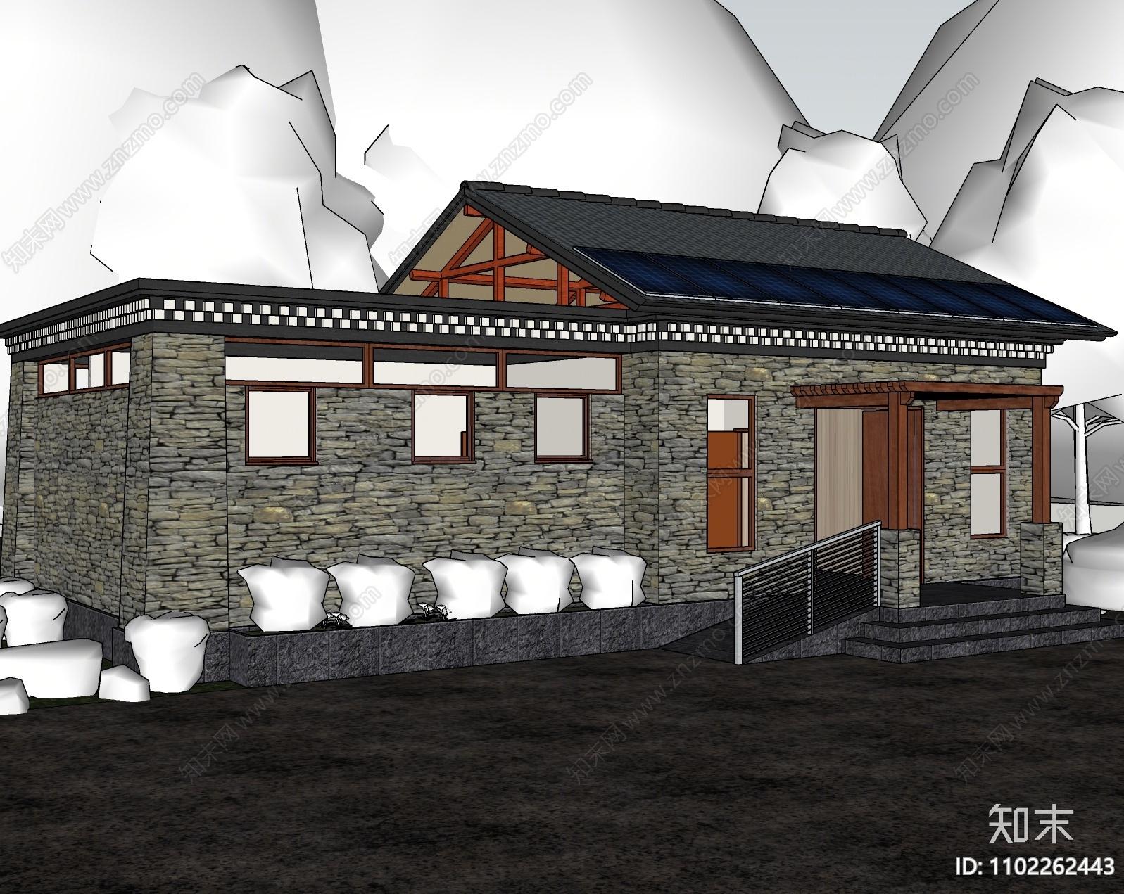 中式公共厕所SU模型下载【ID:1102262443】