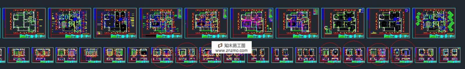史上最全整理,200多套完整家装施工图含效果图施工图下载【ID:36929661】