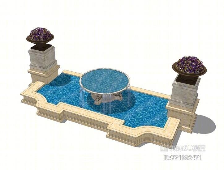 水钵水景SU模型
