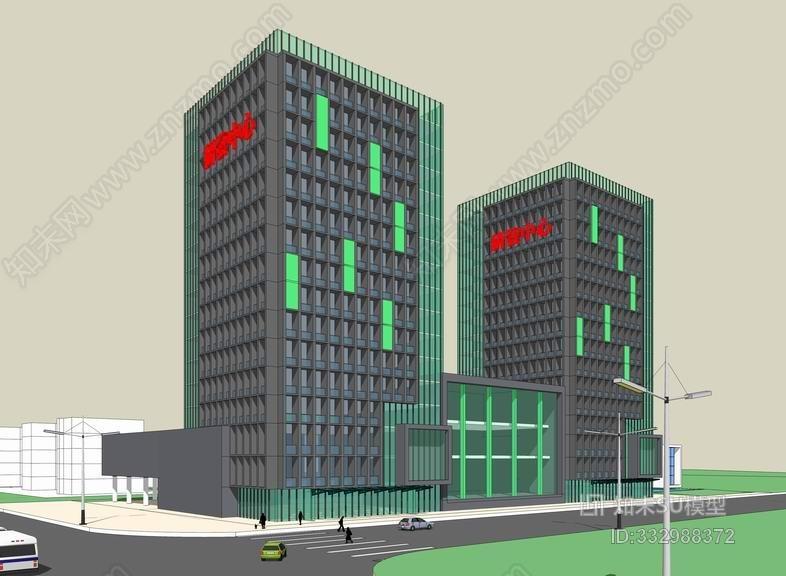 现代高层办公楼SU模型