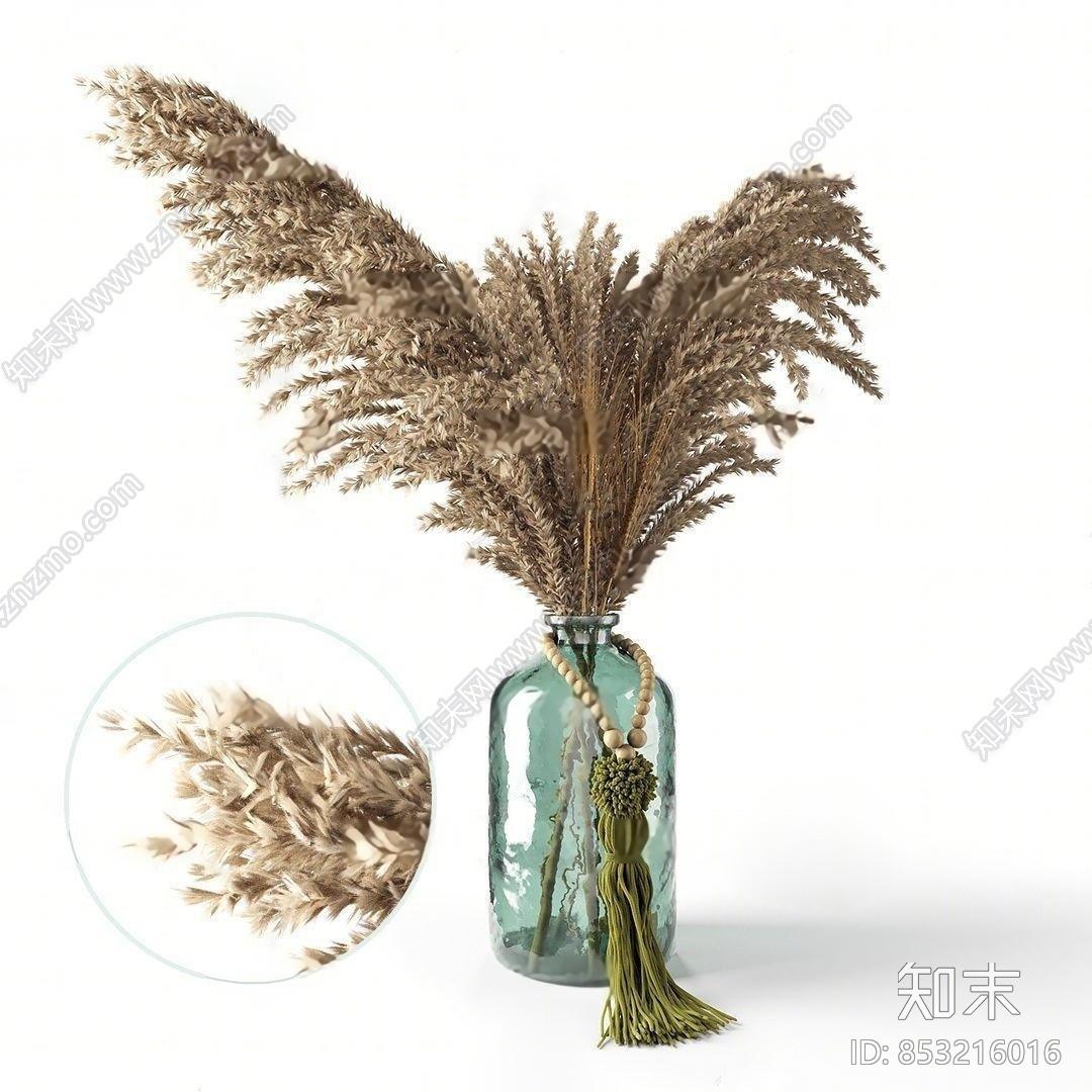 现代花瓶花卉3d模型