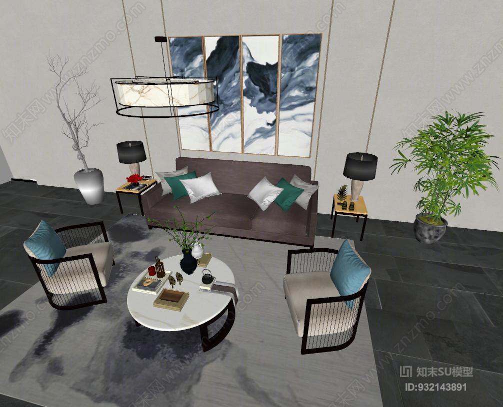 现代中式客厅 现代中式沙发 茶几室内 洗脸盆 餐厅 书桌 办公室