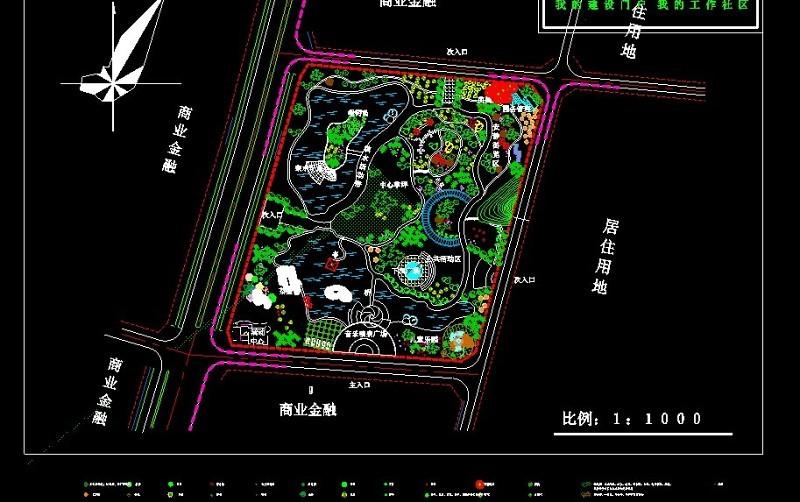 综合性公园设计CAD施工图下载【ID:149625130】
