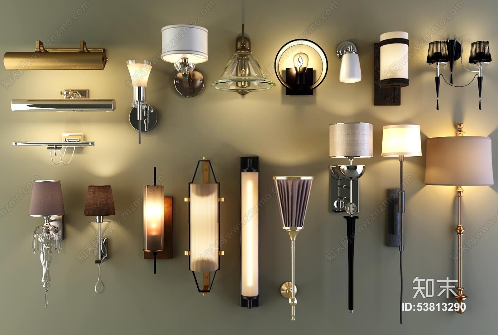壁灯镜前灯双头单头壁灯组合 壁灯 双头灯 单头灯